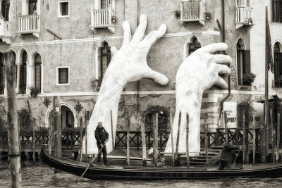 Venice Photograph - Hands by Federico Righi