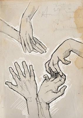 Hands Art Print by H James Hoff