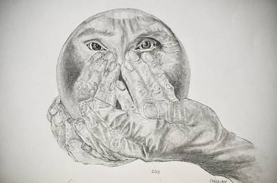 Hands Holding Cristal Ball Art Print by Glenn Calloway