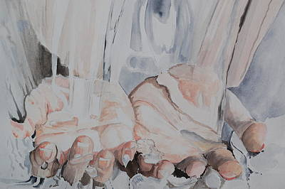 Painting - Hands In Water by Teresa Smith