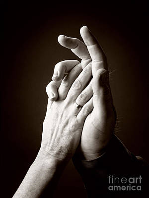 Photograph - Hands by J Christopher Briscoe