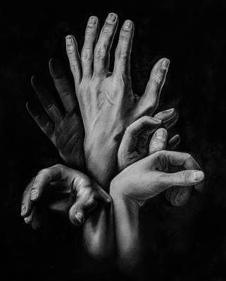 Maps Maps And More Maps - Hands by Martin Velebil