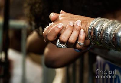Sterling Silver Bracelet Photograph - Hands by Mary  Smyth