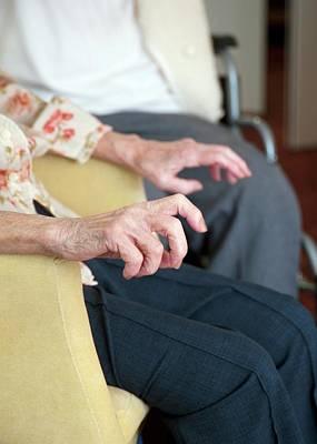Hands Of An Elderly Woman Art Print