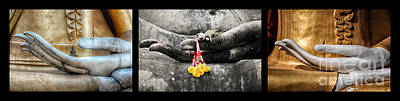 Wat Photograph - Hands Of Buddha by Adrian Evans