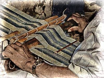 Hand-weaving Photograph - Hands Of The Weaver by Julia Springer