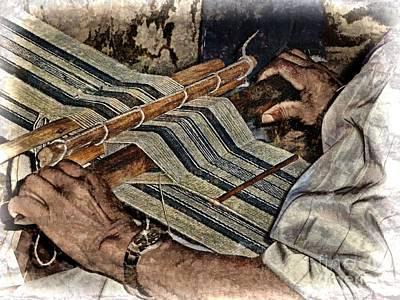 Hands Of The Weaver Print by Julia Springer