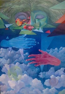 Expresion Painting - Hands On The Sky by Hamdan  Sungaidi