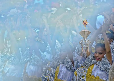 Parade Float Photograph - Hands Up For Santo Nino 2013 by Paul W Sharpe Aka Wizard of Wonders