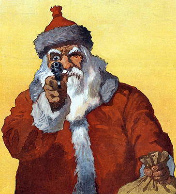 Hands Up Puck Christmas, 1912 Art Print by Science Source