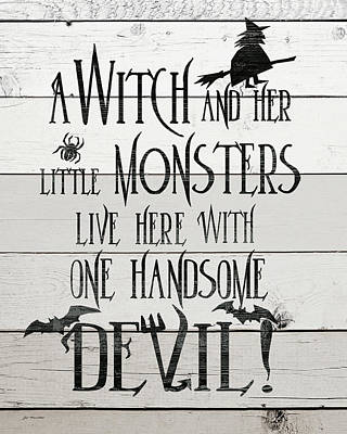 Halloween Sign Painting - Handsome Devil by Jo Moulton
