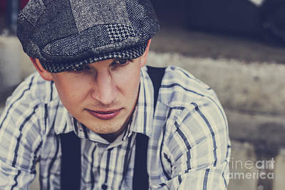 Introspective Photograph - Handsome Fashionable Man In Vintage Apparel by Jorgo Photography - Wall Art Gallery