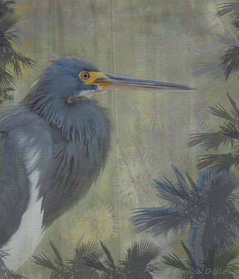 Digital Art - Handsome Heron by Grace Dillon