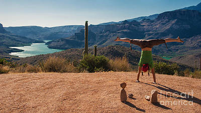 Handstand At Apache Lake Art Print