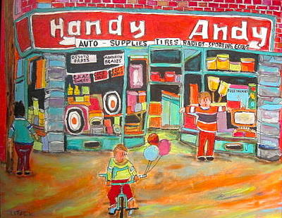 Handy Andy Painting - Handy Andy Montreal Memories by Michael Litvack