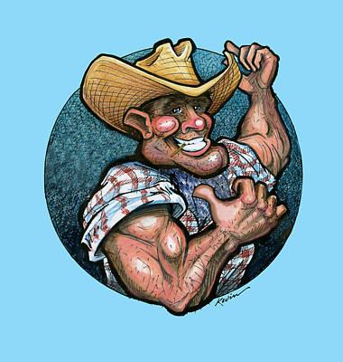 Cowboy Digital Art - Handyman by Kevin Middleton
