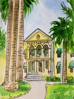 Hanford - California Sketchbook Project Art Print by Irina Sztukowski