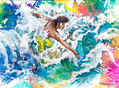 Seacape Painting - Hang Ten Or Twenty by Patricia Allingham Carlson