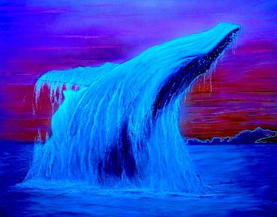 Humpback Whale Mixed Media - Hang Time  by Hank  Bufkin