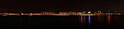 Hangang And Seoul Night Scene Panorama Art Print by Phoresto Kim