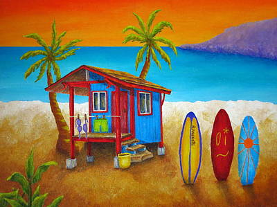 Surfing Art Painting - Hangin Loose by Pamela Allegretto