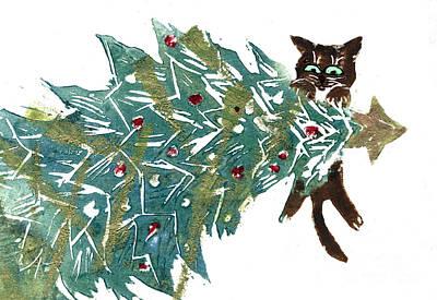 Hanging Around The Tree Art Print by Ellen Miffitt