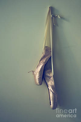 Ballet Shoes Photograph - Hanging Ballet Slippers by Diane Diederich