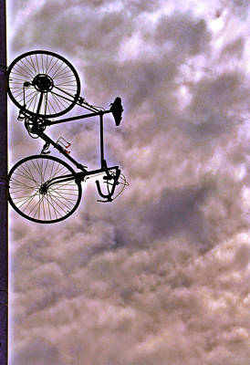 Photograph - Hanging Bicycle by Bill Owen