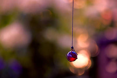Wind Chimes Photograph - Hanging By A Thread by Bonnie Bruno