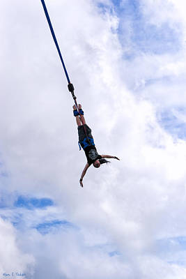 Photograph - Hanging By A Thread - Bungee Jumping by Mark E Tisdale