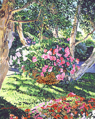 Hanging Basket Painting - Hanging Flower Basket by David Lloyd Glover
