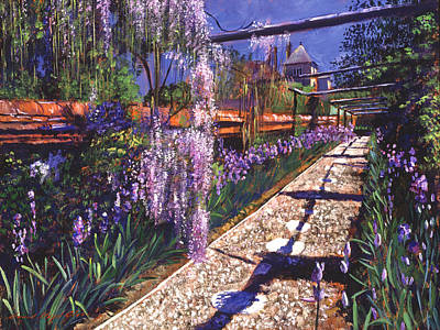 Wisteria Painting - Hanging Garden by David Lloyd Glover
