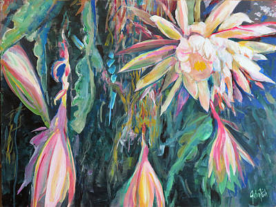 Painting - Hanging Garden Floral by John Fish