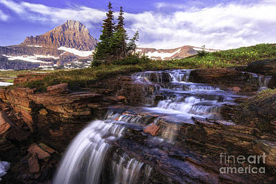 Photograph - Hanging Gardens Cascades - Logan Pass by Expressive Landscapes Nature Photography