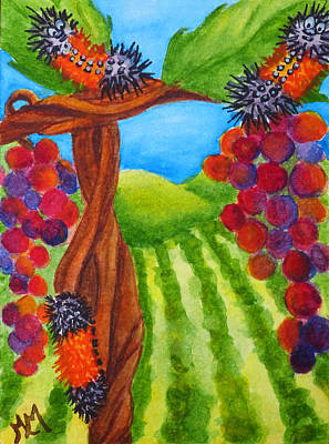 Painting - Hanging In The Vineyard by Monique Morin Matson