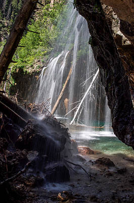Photograph - Hanging Lake - Under The Falls by Aaron Spong