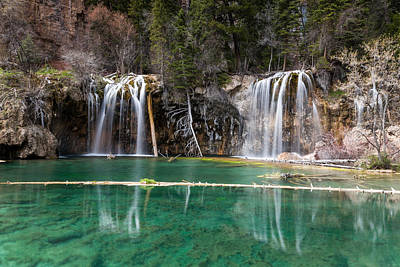 Art Print featuring the photograph Hanging Lake by Jay Stockhaus