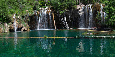 Hanging Lake Panorama Art Print by Aaron Spong