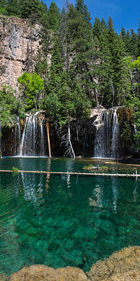 Hanging Lake Vertical Panorama Art Print by Aaron Spong