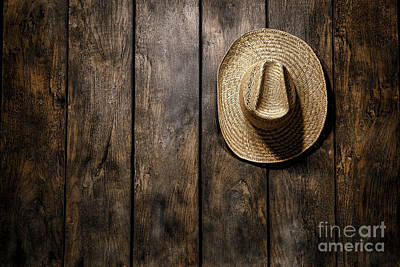 Straw Hats Photograph - Hanging My Hat by Olivier Le Queinec