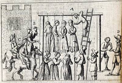 Hanging Of Witches, 17th Century Art Print by British Library