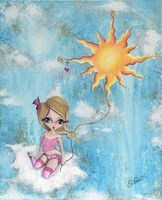 Hanging On To The Sun Art Print