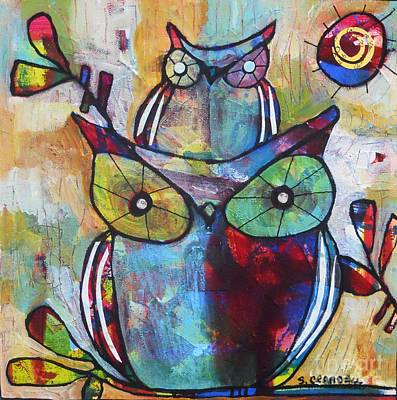 Baby Bird Mixed Media - Hanging Out 3 by Shannon Crandall