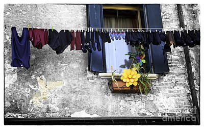 Hanging Out To Dry In Venice 2 Print by Madeline Ellis