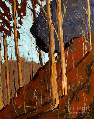 Limestone Painting - Hanging Rock No.2 by Charlie Spear
