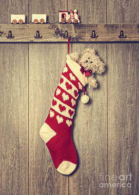 Hanging Stocking Art Print