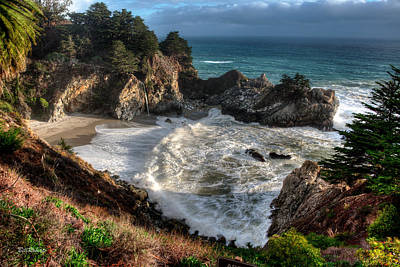 Mcway Falls Photograph - Hanging Waterfall In Big Sur by Bill Roberts