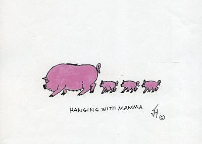 Hanging With Mama Art Print