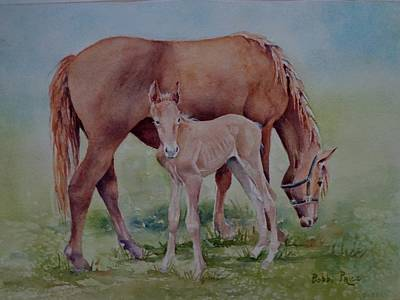 Painting - Hanging With Mom by Bobbi Price