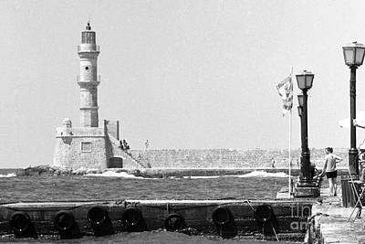 Photograph - Hania Lighthouse And Quay by Paul Cowan